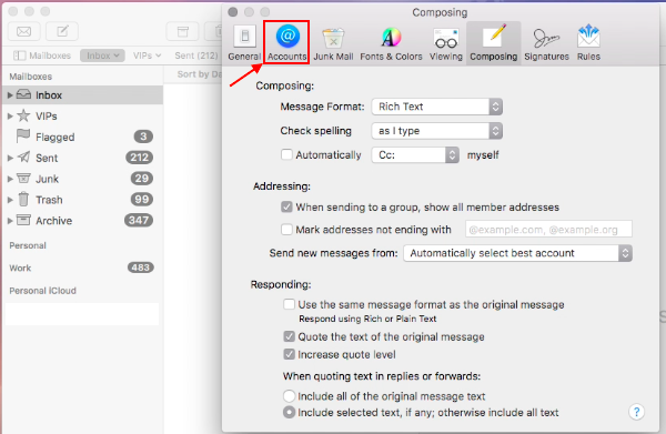 SaneBox | Apple Mail: Finding Your Outgoing SMTP Settings