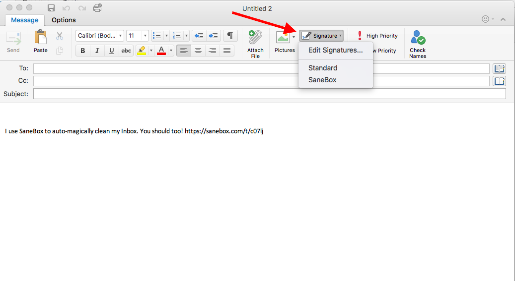 How to switch email signatures for different emails