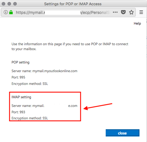 SaneBox | Exchange 2013: How do I find my email server settings?