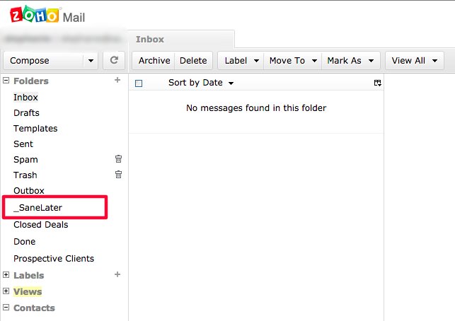 Sanebox help finding sanelater in zoho mail finding sanelater in zoho mail stopboris Gallery