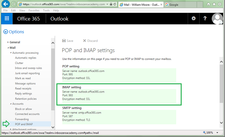 Marvelous TIP : For Older Office 365 Accounts The IMAP Server Address May Differ From  The Common Settings Depicted In Our Example Picture. Follow The Above Steps  To ...