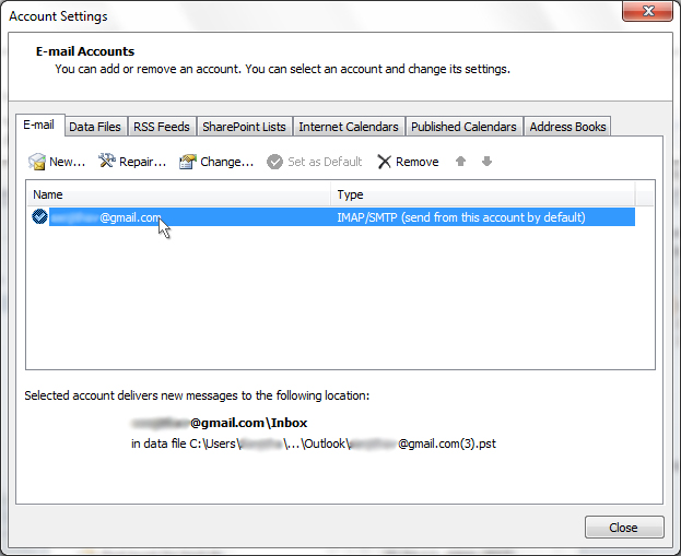 SaneBox | Outlook 2010: How do I find my server settings?