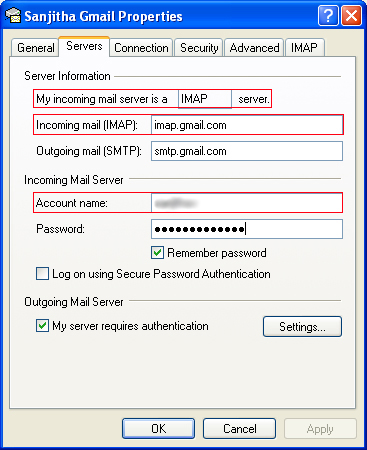 SaneBox | Outlook Express: How do I find my server settings?