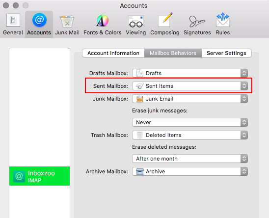 SaneBox   Mac OSX Apple Mail: How do I save my sent email