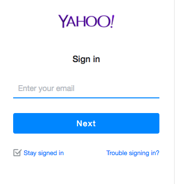 log into my yahoo email account