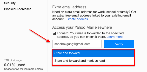 Open email account in yahoo